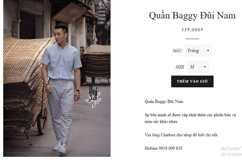 shop chuyên quần baggy nam Đũi Style