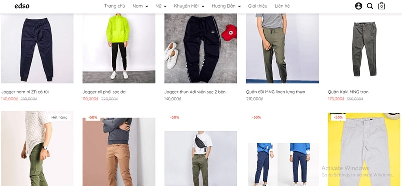 shop chuyên quần baggy nam Esdo
