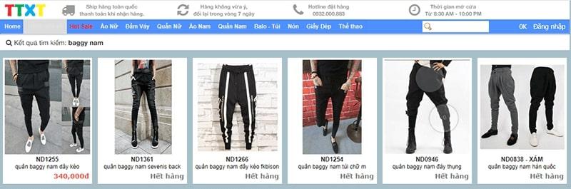 shop chuyên quần baggy nam Thời Trang Xì Tin