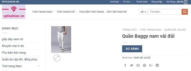 shop chuyên quần baggy nam VP Fashion