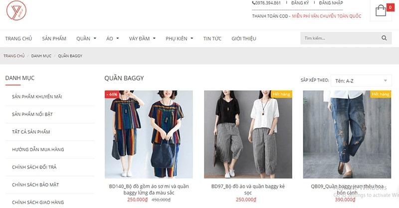 shop bán quần baggy nhiều mẫu đẹp - Yaka Fashion