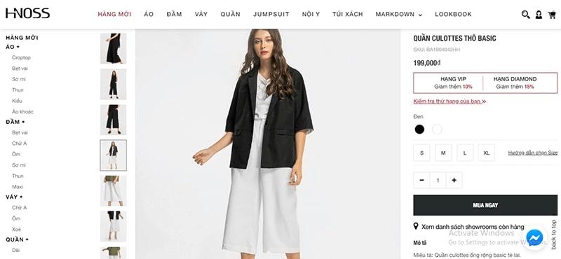 cửa hàng bán quần culottes đẹp uy tín - HNOSS FASHION