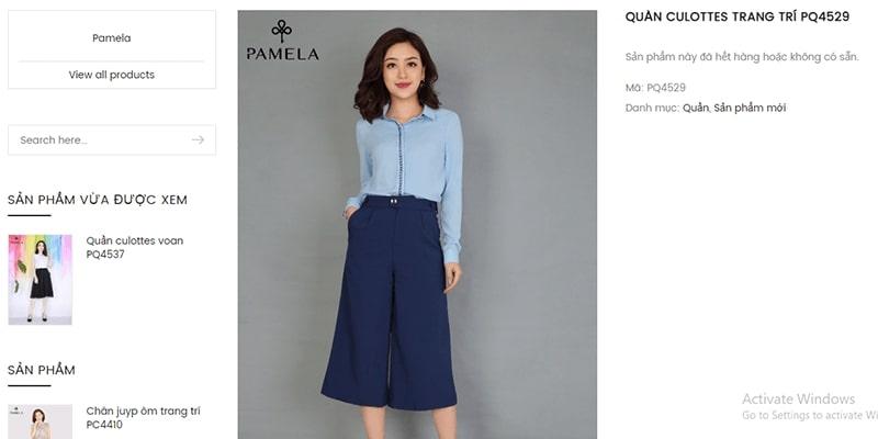 cửa hàng bán quần culottes đẹp uy tín - Thời trang Pamela