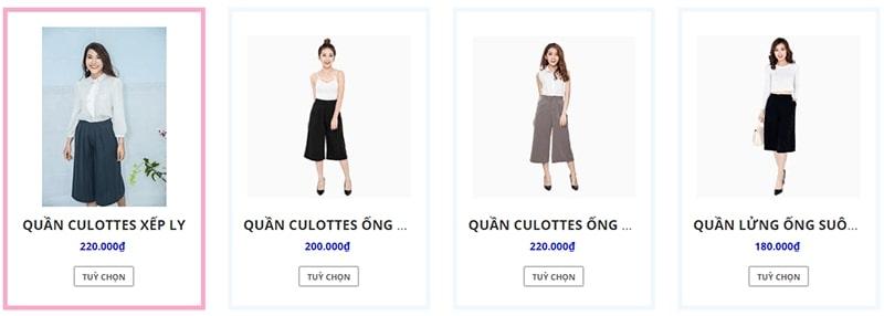 cửa hàng bán quần culottes đẹp uy tín - Yofa