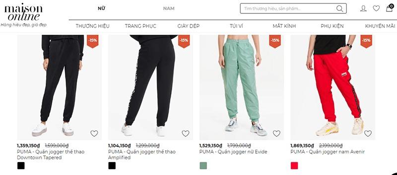 """địa điểm bán quần jogger nữ đẹp """"HOT"""" xình xịch - Maison Online"""