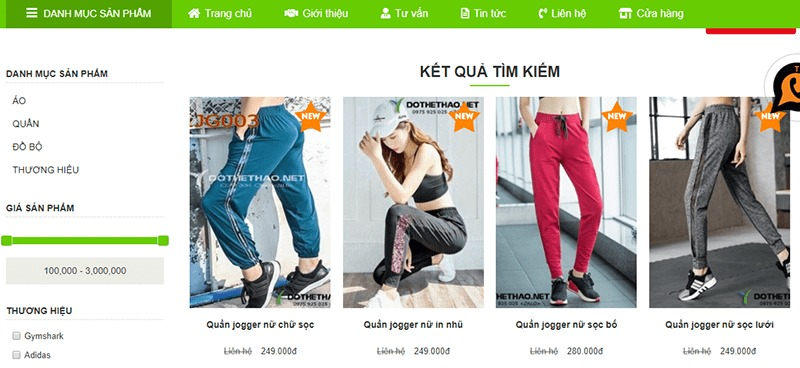 shop mua quần jogger nữ tphcm Đồ Thể Thao