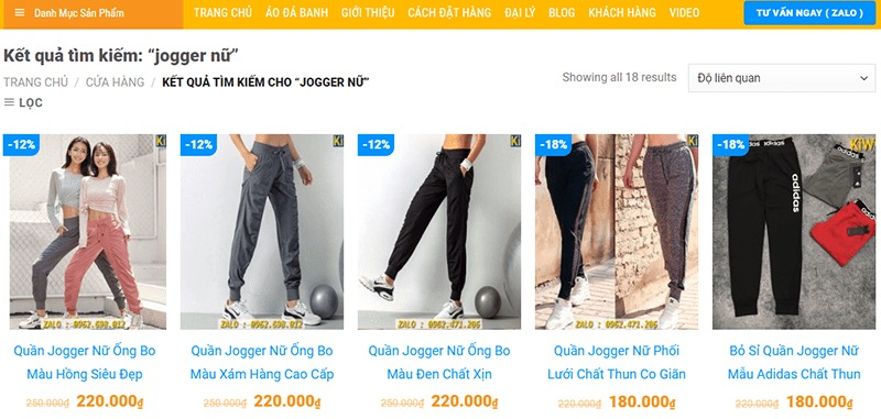 shop mua quần jogger nữ tphcm Kiwi Sport