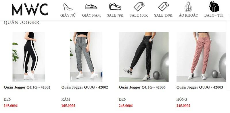 shop mua quần jogger nữ tphcm MWC Shop