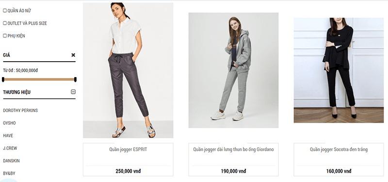 shop mua quần jogger nữ tphcm Ombre