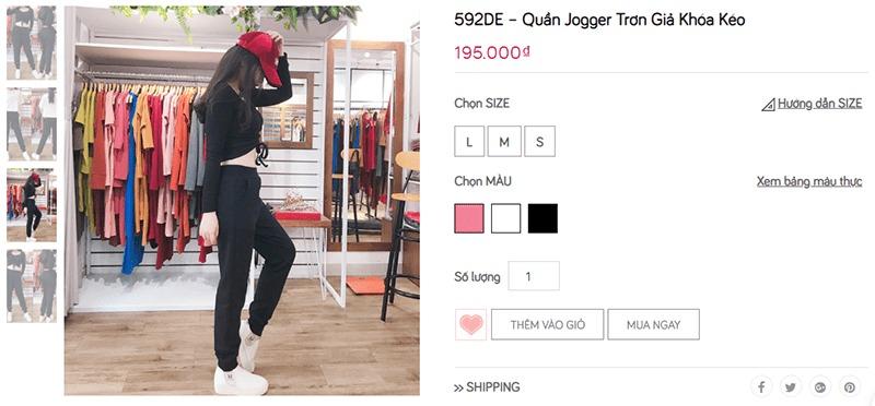 shop mua quần jogger nữ tphcm TF Shop