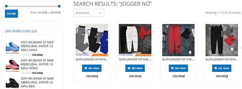shop mua quần jogger nữ tphcm Vic Sport