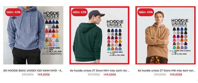shop bán áo hoodie tphcm đẹp 2T Store