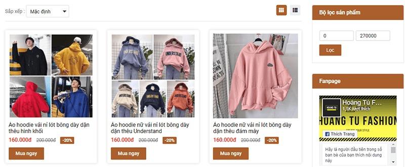 shop bán áo hoodie tphcm đẹp Hoàng Tú Fashion