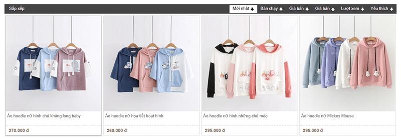 shop bán áo hoodie tphcm đẹp Sakura Fashion