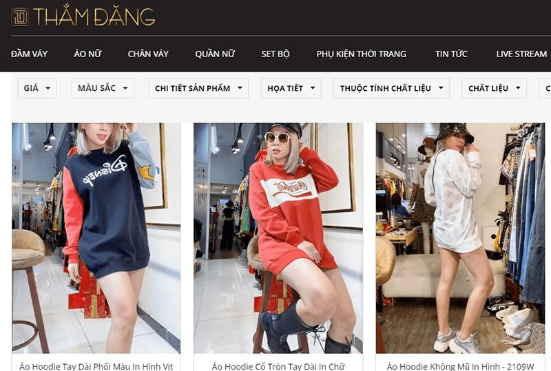 shop bán áo hoodie tphcm đẹp Thắm Đặng Store