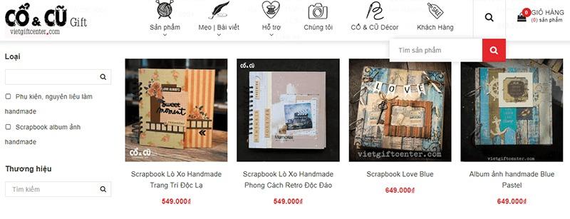 shop bán đồ handmade online Việt Gift Center