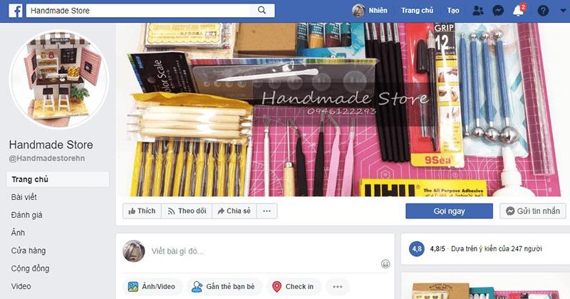 shop bán đồ handmade online Handmade Store