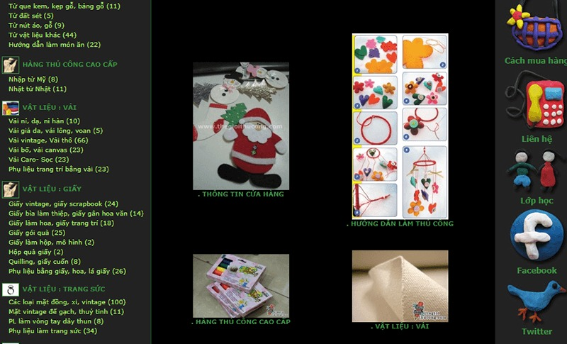shop bán đồ handmade online Thế Giới Thủ Công