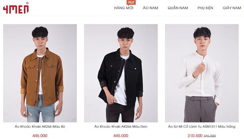 shop đồ nam thời trang đẹp giá rẻ - 4MEN