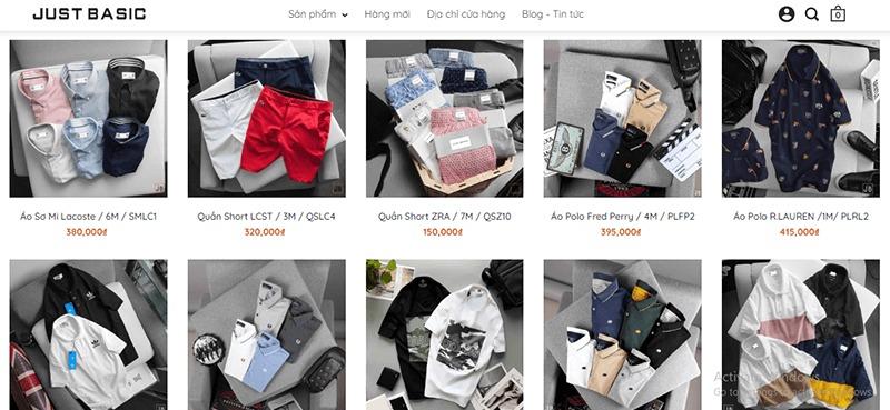 shop đồ nam thời trang đẹp giá rẻ - Just Basic Store