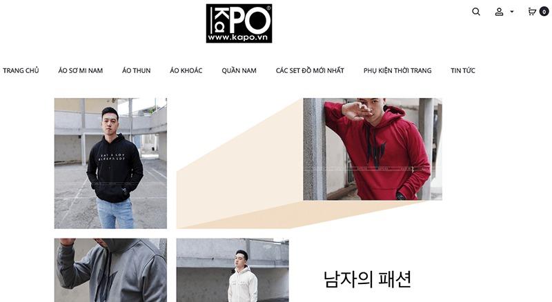 shop đồ nam thời trang đẹp giá rẻ - Kapo