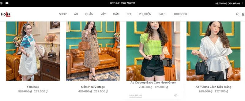 shop quần áo đường võ văn ngân - Holis