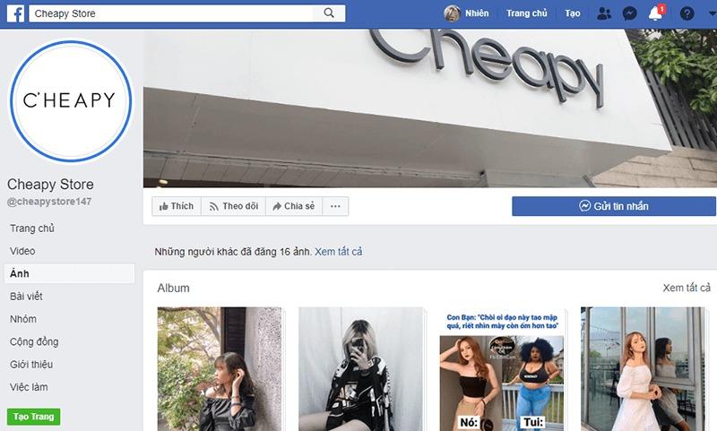 shop quần áo nữ ở tphcm facebook - Cheapy Store