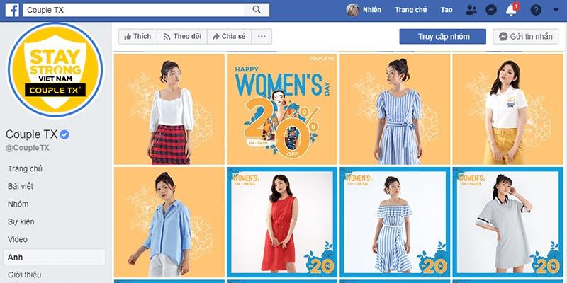 shop quần áo nữ ở tphcm facebook - Couple TX