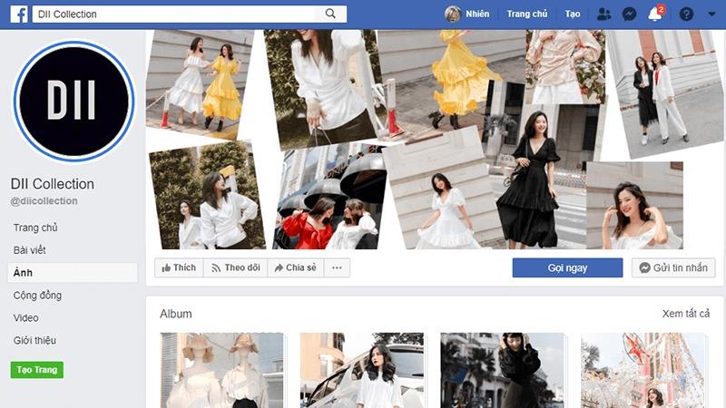 shop quần áo nữ ở tphcm facebook - DII Colection