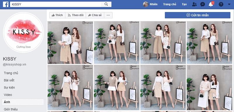 shop quần áo nữ ở tphcm facebook - Kissy