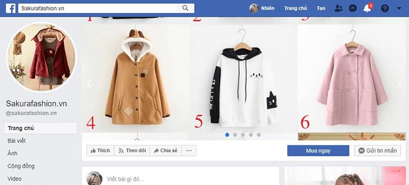 shop quần áo nữ ở tphcm facebook - Sakura Fashion