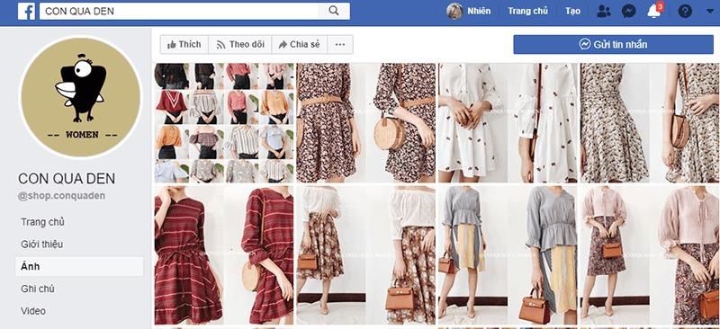 shop quần áo vintage ở tphcm đẹp, giá rẻ - Con Quạ Đen