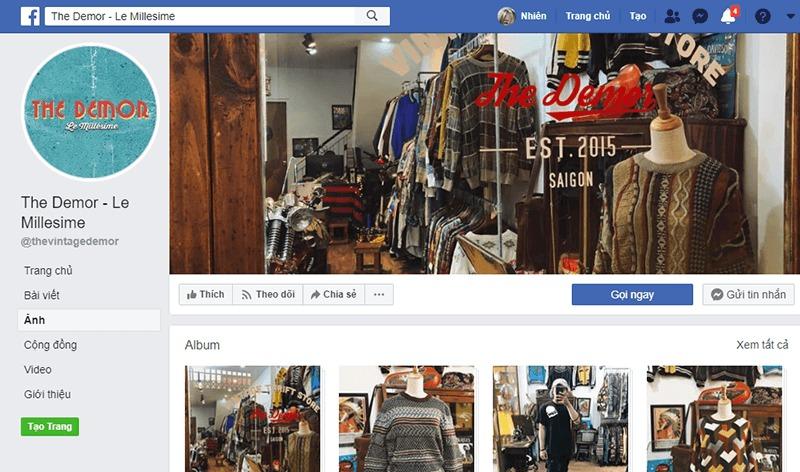 shop quần áo vintage ở tphcm đẹp, giá rẻ - The Demor Le Milesime