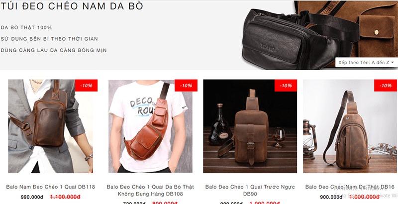 Shop túi đeo chéo nam đẹp - Vua Da Sài Gòn