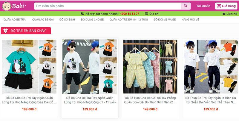Babi shop quần áo trẻ em hàng đầu tại tphcm