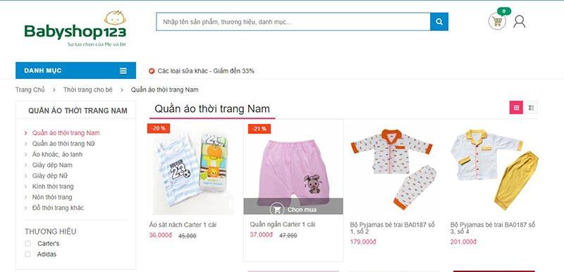 Baby shop 123 địa điểm mua quần áo trẻ em hàng đầu tại tphcm