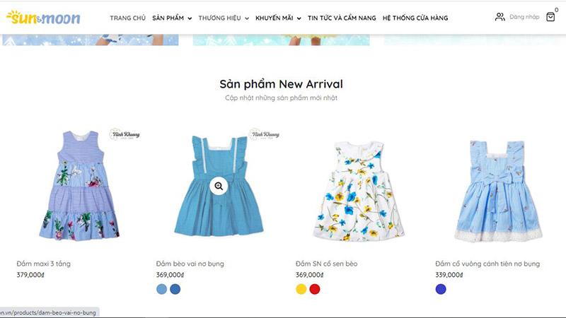 Cửa hàng thời trang trẻ em Sun & Moon tại tphcm