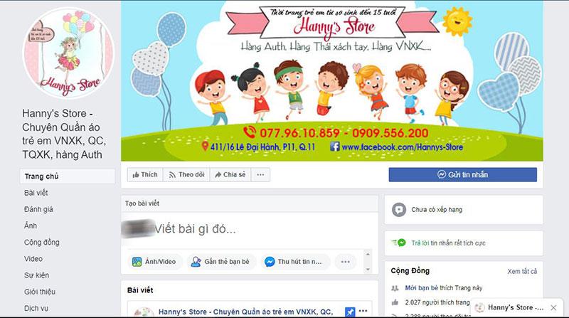 Địa chỉ bán quần áo trẻ em rẻ đẹp tại tphcm Hanny store