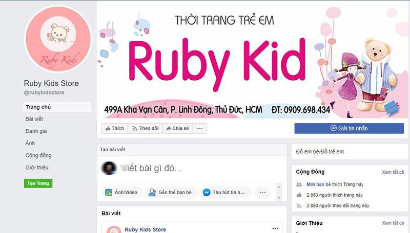 Quần áo trẻ em giá rẻ đẹp tại Ruby Kids store