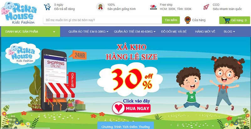Rika House cửa hàng thời trang trẻ em hàng đầu tại TPHCM