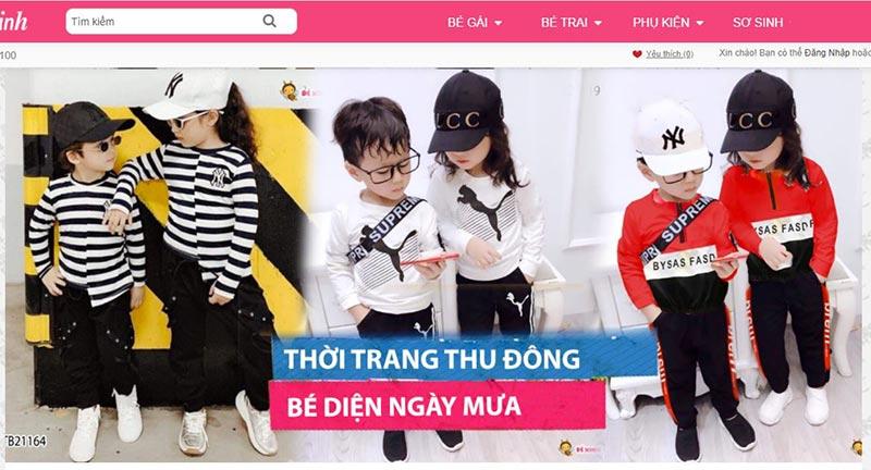 Shop quần áo trẻ em tphcm uy tín Bé Xinh shop
