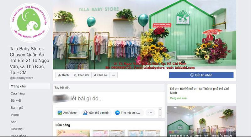 Tala Baby store địa điểm cung cấp quần áo trẻ em thời trang tphcm