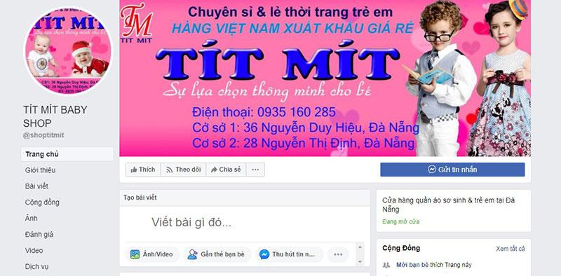 Thời trang trẻ em chất lượng tại Tít Mít baby shop Đà Nẵng