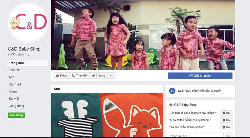 Mua quần áo trẻ em chất lượng tại C&D Baby shop