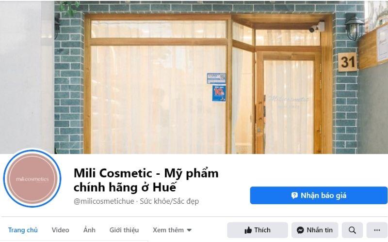 Mili Cosmetics là địa chỉ mua mỹ phẩm của nhiều chị em