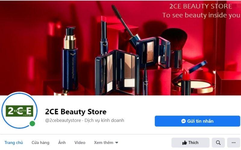 2CE Beauty store cung cấp các loại mỹ phẩm với giá cả rất phải chăng