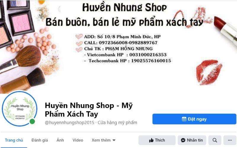 Huyền Nhung shop chuyên sỉ lẻ các dòng mỹ phẩm nước ngoài chất lượng cao