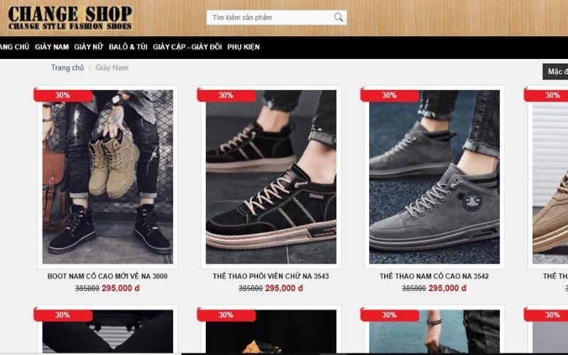 Changeshop là địa cỉ mua giày nam tphcm rất uy tín và chất lượng