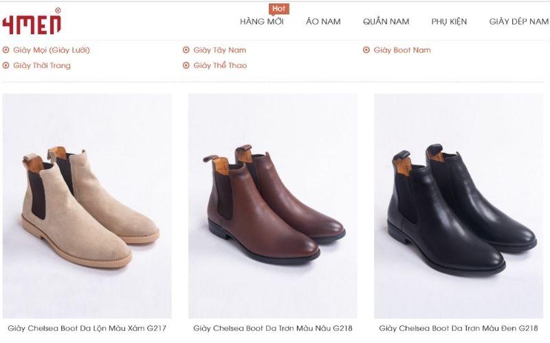 Các bạn trẻ thích năng động hoàn toàn có thể lựa chon những đôi giày tại 4men
