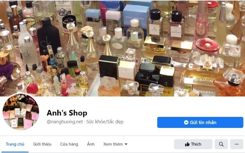 Anh's Shop chuyên bán các loại nước hoa, mỹ phẩm xách tay uy tín chất lượng